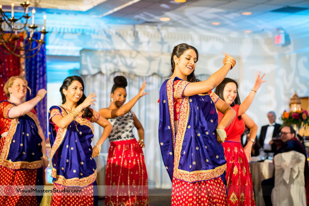 Bridesmaids in Lehengas Dancing at Mayfair Farms by Visual Masters