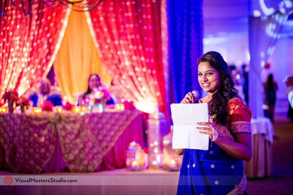Bridesmaid in Blue Lehenga at Mayfair Farms by Visual Masters