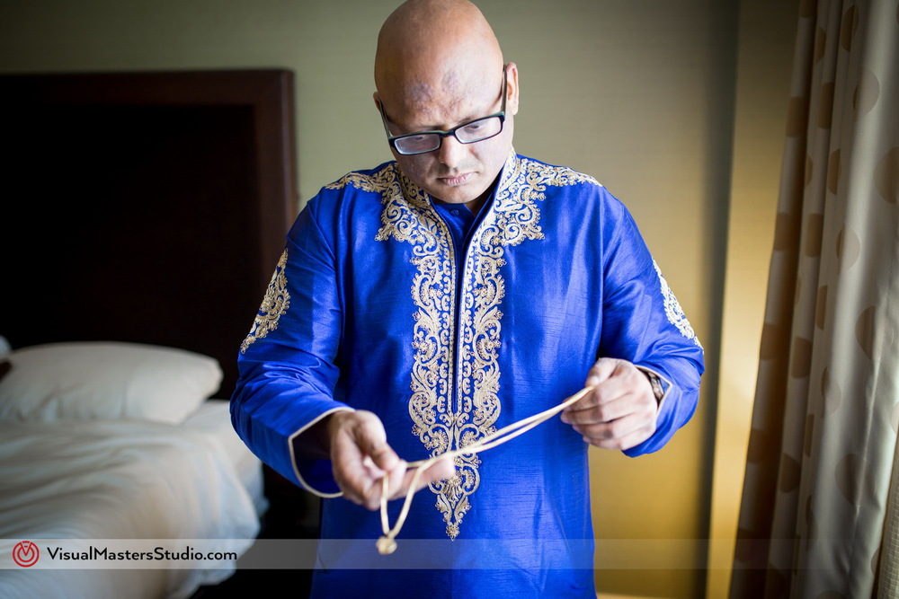 Indian Blue Sherwani by Visual Masters
