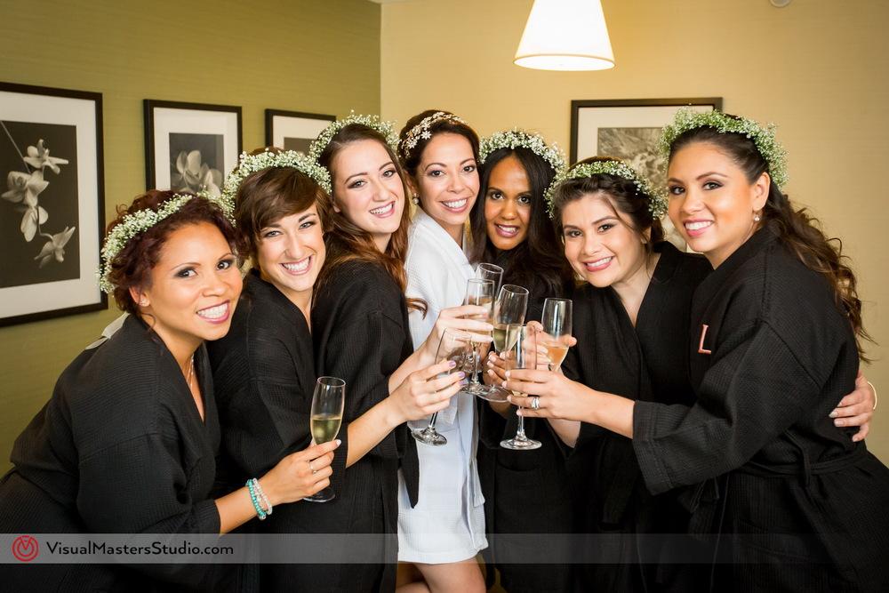 DIY Bridesmaids Crowns by Visual Masters