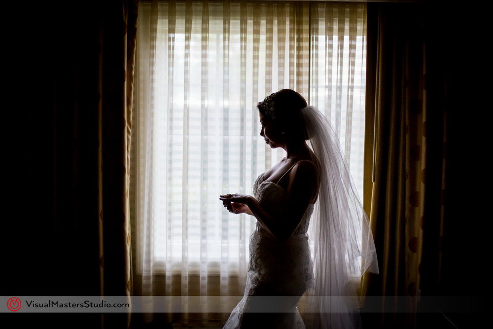Bride Silhouette by the Window by Visual Masters