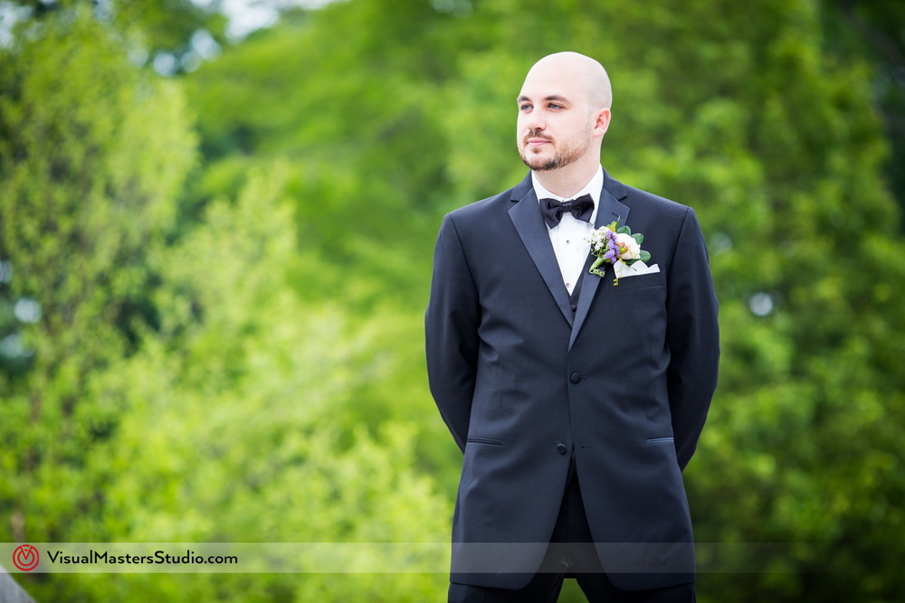 Groom Waiting for his Bride at Verona Park by Visual Masters