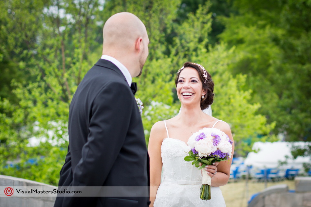 Groom Seeing his Bride for the First Time at Verona Park by Visual Masters