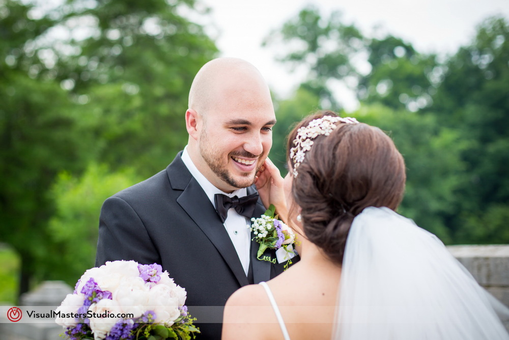 First Look Grooms Reaction at Verona Park by Visual Masters