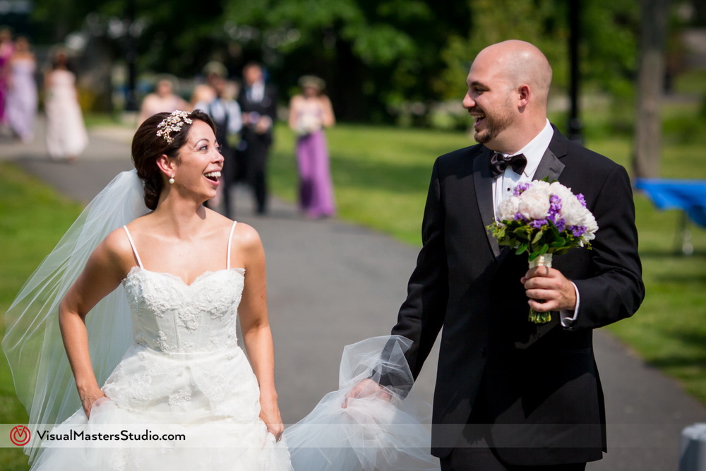 Bride and Groom Candid at Verona Park by Visual Masters