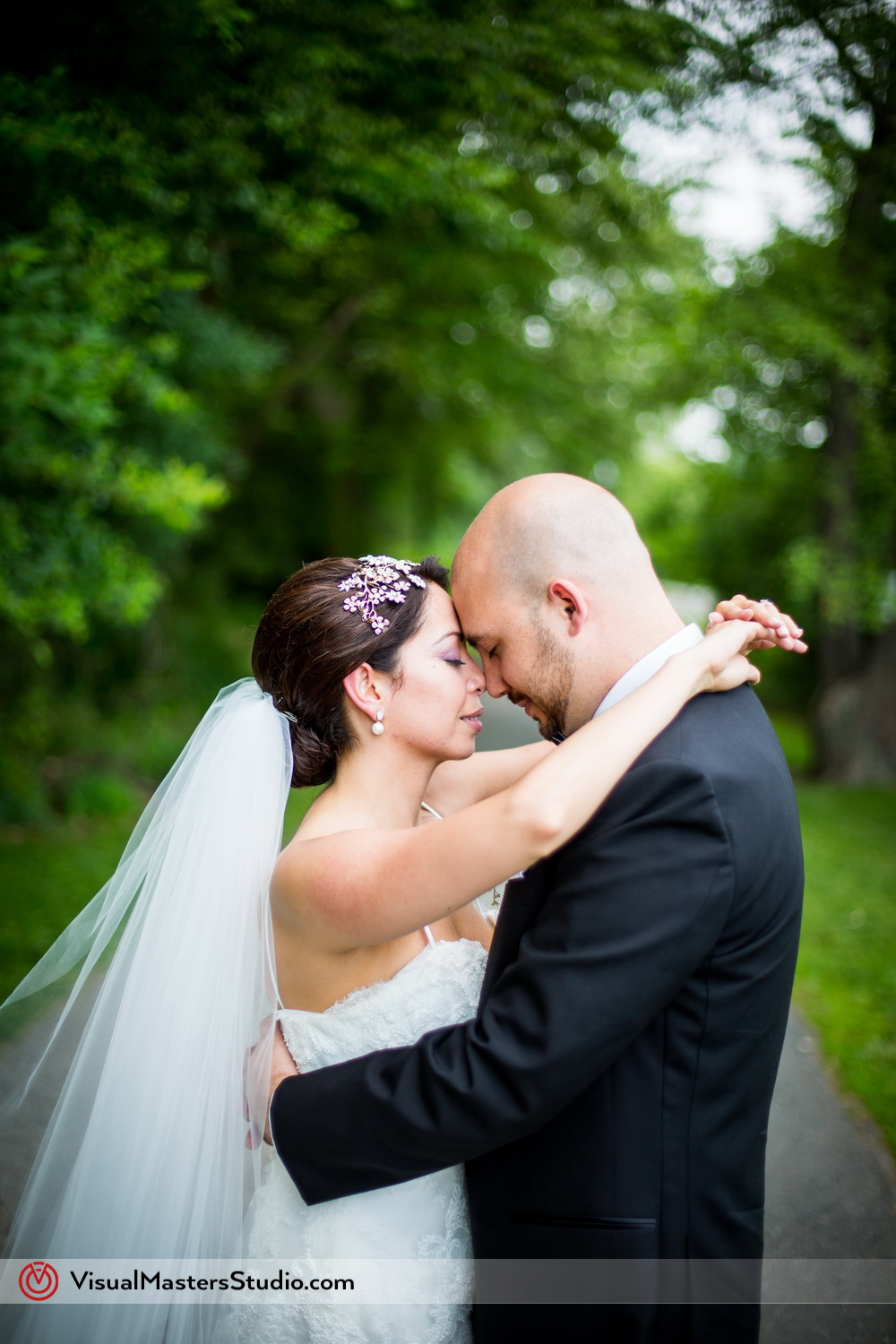 Bride and Groom Moment Alone at Verona Park by Visual Masters