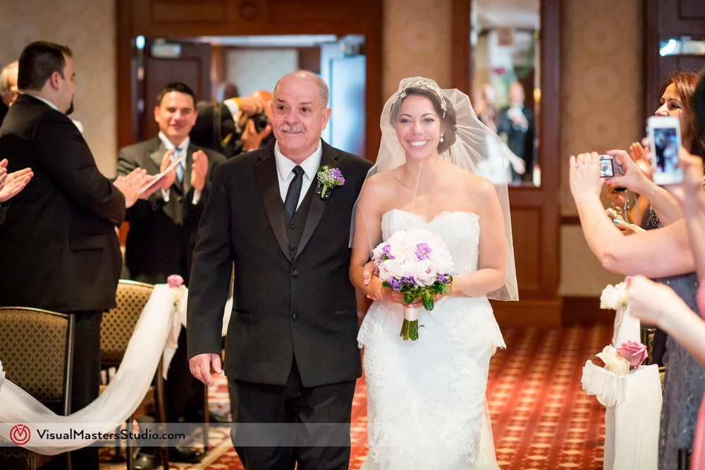 Bride Walking Down The Aisle at Westminister Hotel by Visual Masters