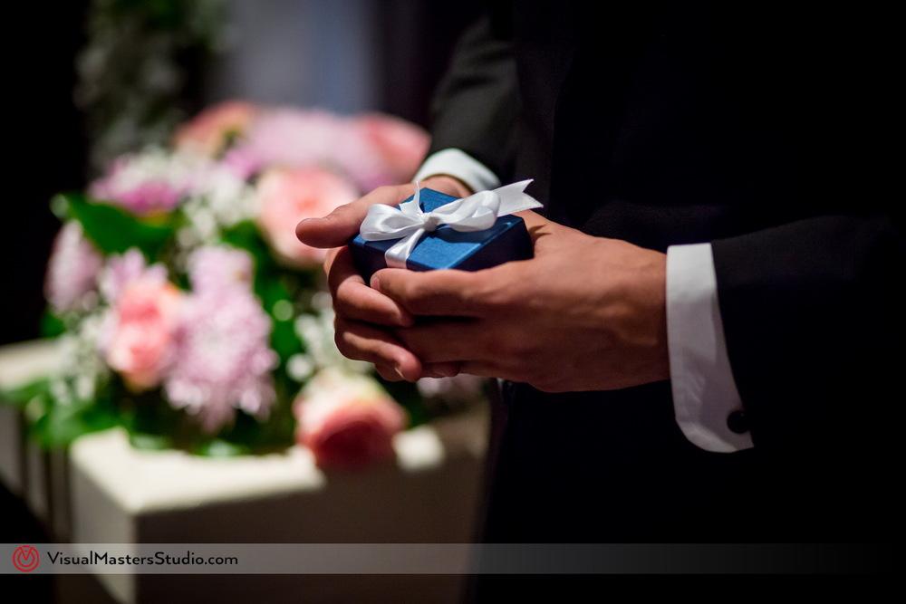 Blue Wedding Ring Box by Visual Masters