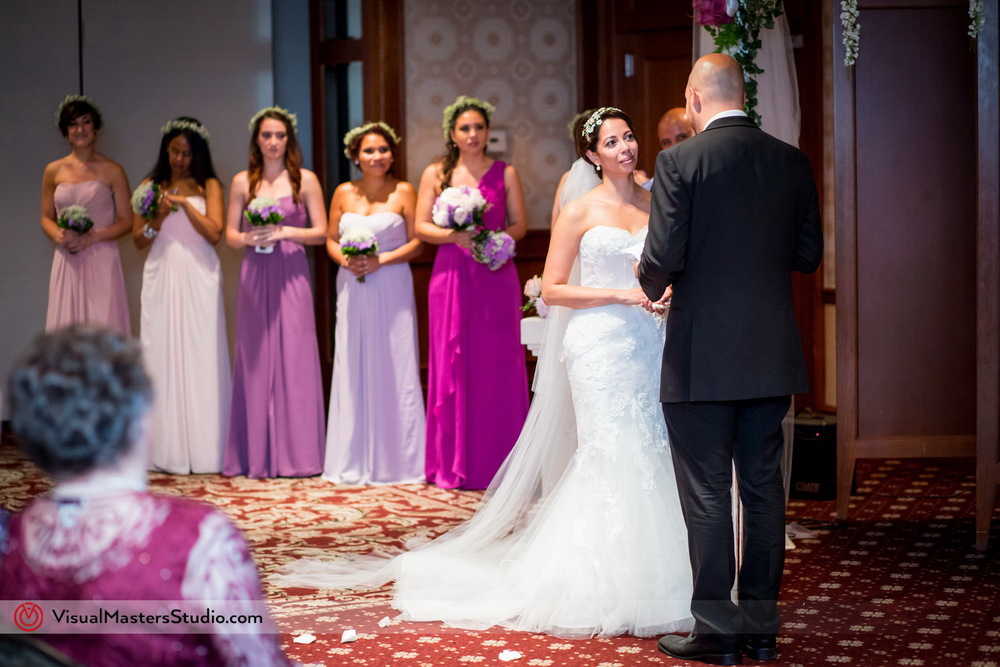 Bride and Groom at the Altar at Westminister Hotel By Visual Masters