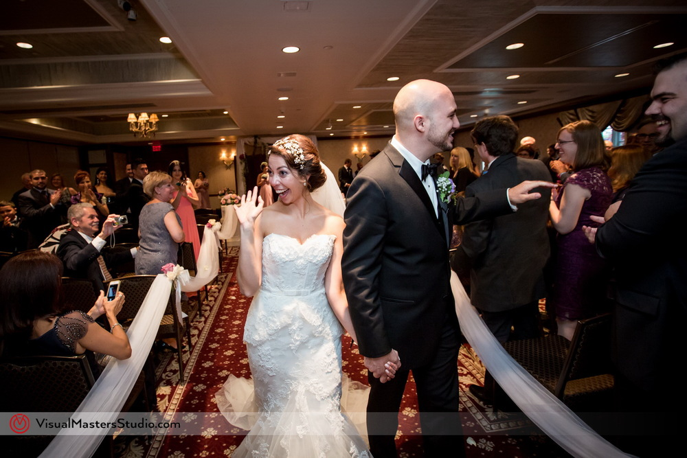 Married Couple Leaving the ceremony at Westminister Hotel by Visual Masters