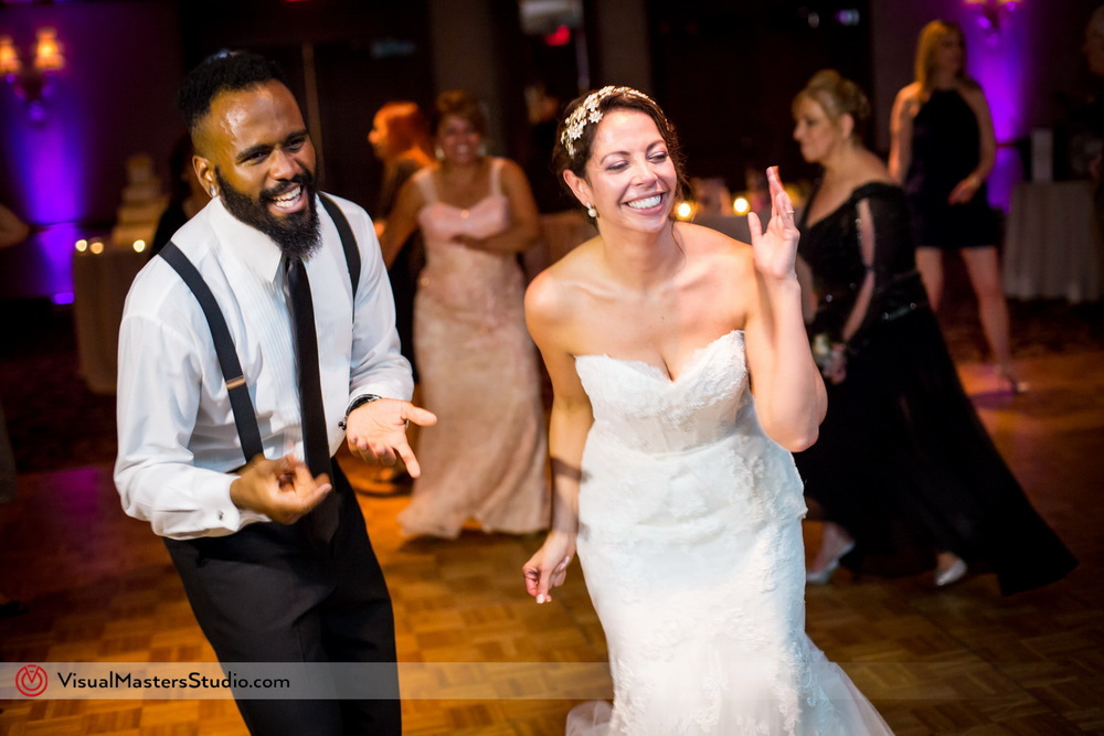 Bride dancing with Groomsman at Westminister Hotel by Visual Masters