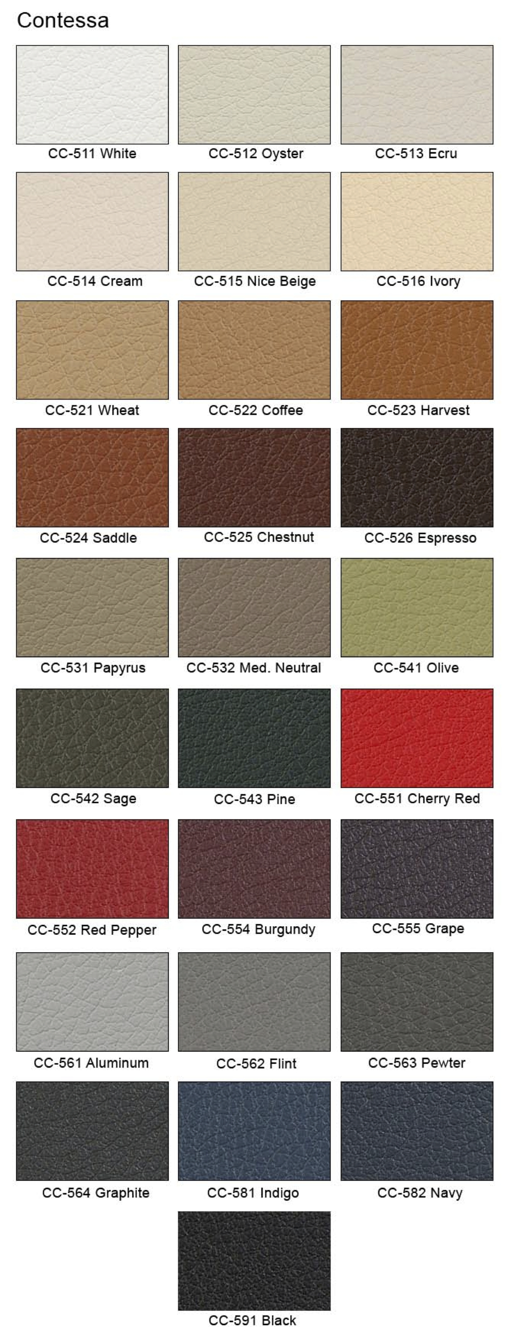 Contessa Leather Swatches