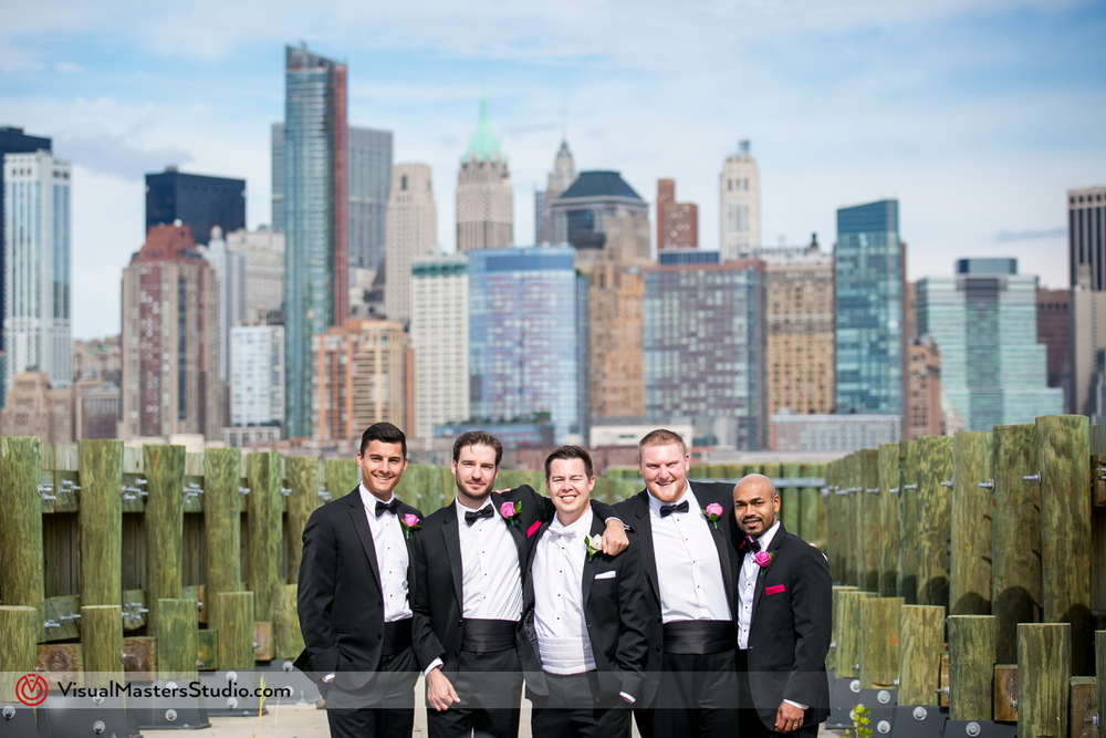 Groomsmen at Liberty Park Ferry Terminal by Visual Masters