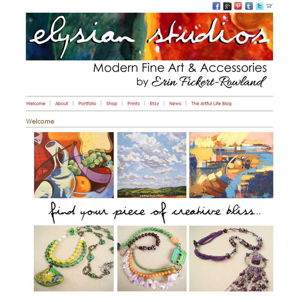 2013-2014 Elysian Studios website design