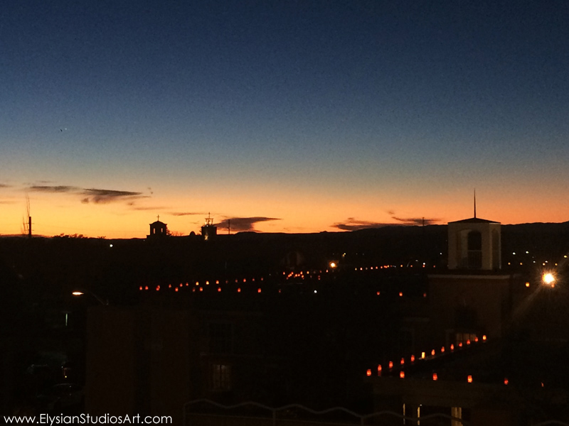 Santa Fe Sunset and luminaries