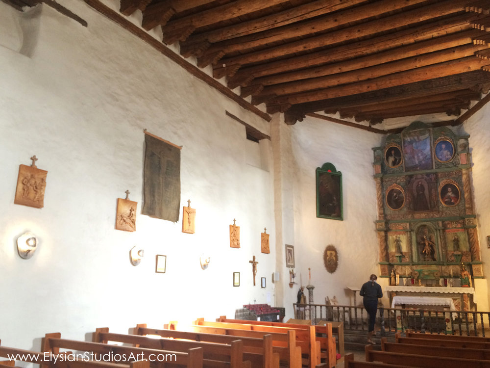San Miguel Chapel interior, Santa Fe, New Mexico