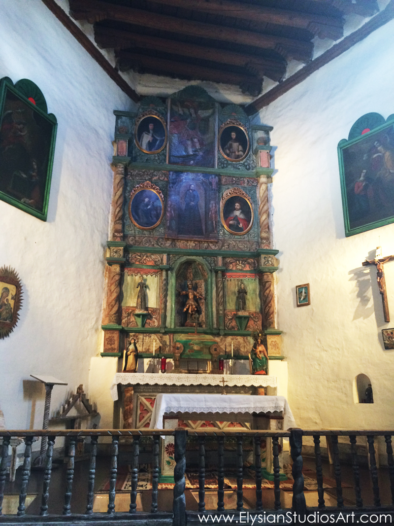 The wooden altar screen, or  reredos,  of San Miguel Chapel is one of the oldest in New Mexico.