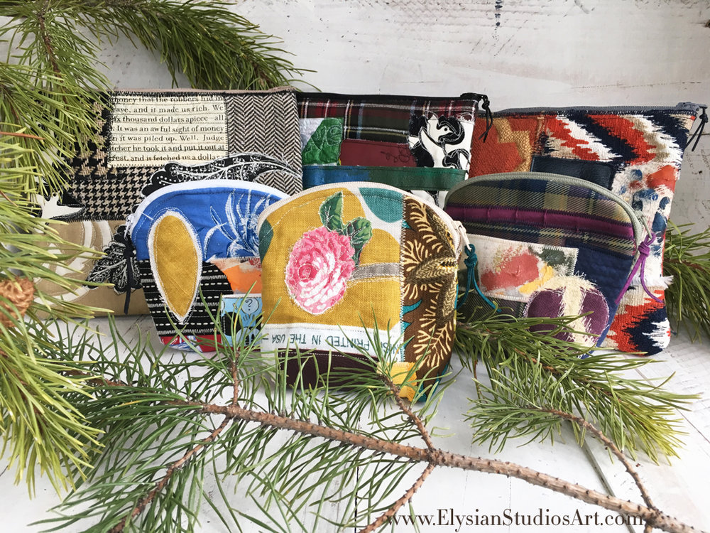 Mixed Media Art Bags by Elysian Studios