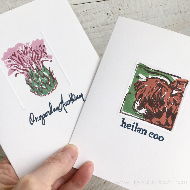 Scottish Thistle and Heilan Coo