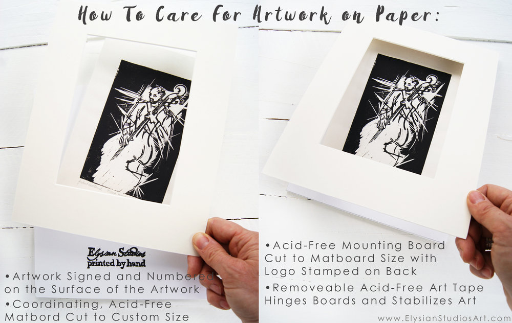How To Care For Artwork on Paper