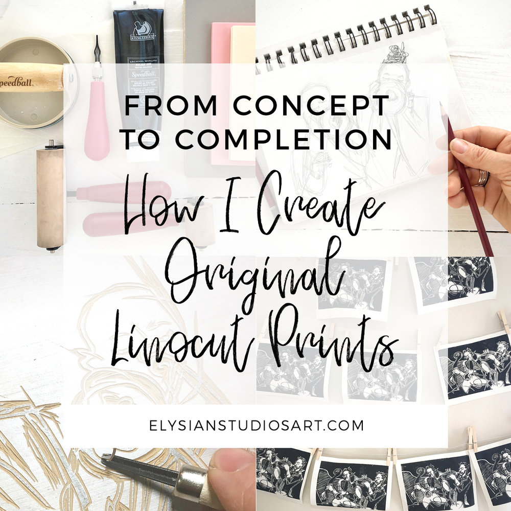 How I Create Original Linocut Prints