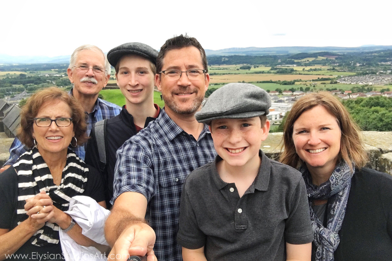 Family selfie at Stirling Castle, Stirling, Scotland