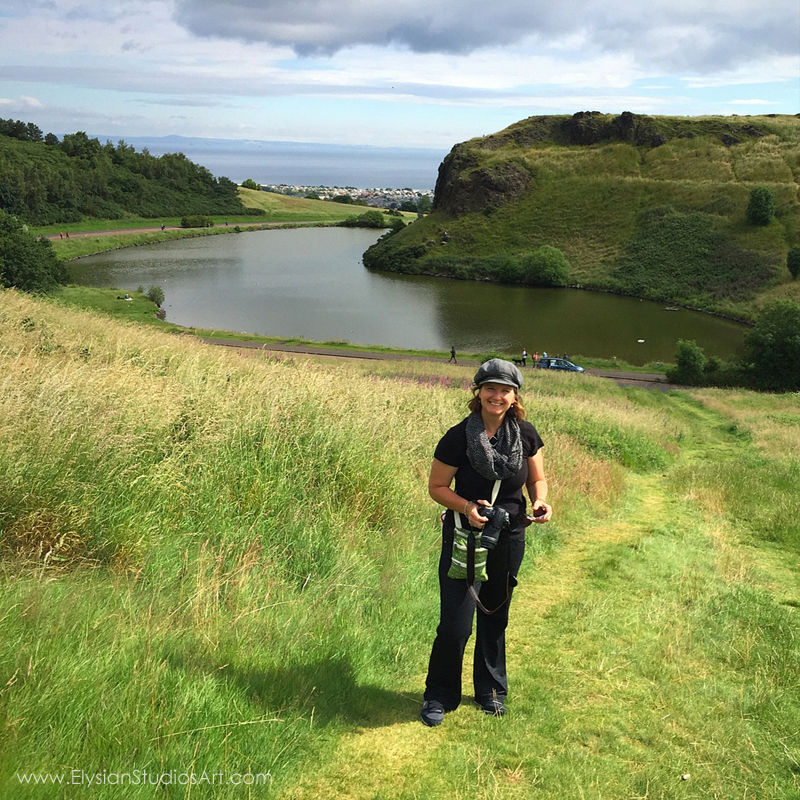 Erin on hike to King Arthur's Seat, Edinburgh, Scotland