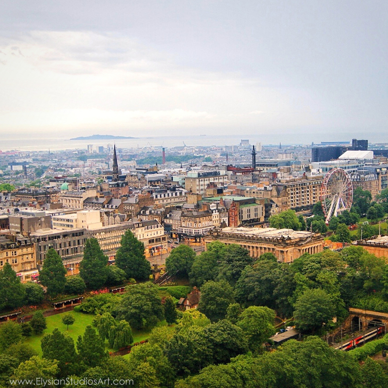 View of Edinburgh, Scotland from Edinburgh Castle