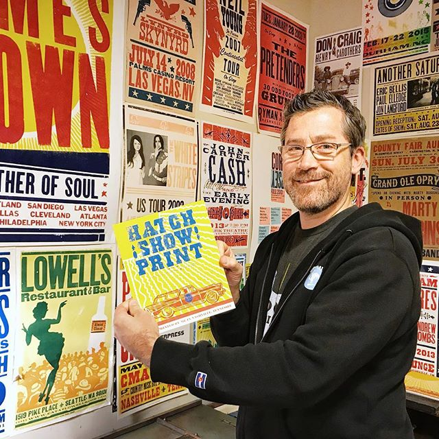 We loved the opportunity to create a souvenir connected with the history of Nashville's entertainment industry and the role @hatchshowsprint has played in keeping the letterpress art form alive. Can't wait to get our prints framed and up on our walls back at home! _____________________ #hatchprint #nashville #nashvilletn #musiccity #creatorslane #makersgonnamake #printmakersofinstagram #oneofthebunch #printmakingart #get_imprinted #printstudio #printstagram #photosinbetween #printmaking #visualsoflife #visualcrush #artistatwork #arteducation #artislife #lifeisart  #livecolorfully #creativehappylife #creatorsofart #livethelifeyoulove #artprocess #printpress #printingpress #exploreinbetween #sundayfunday #ElysianStudios
