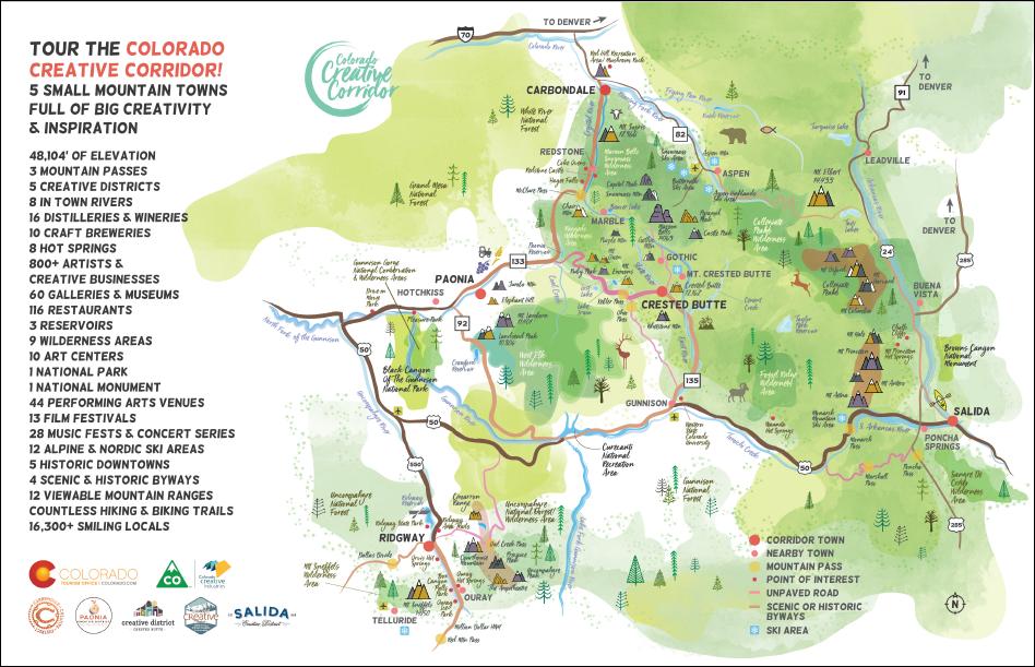 Ridgeway Colorado Map.Creative Corridor Ridgway Creative District