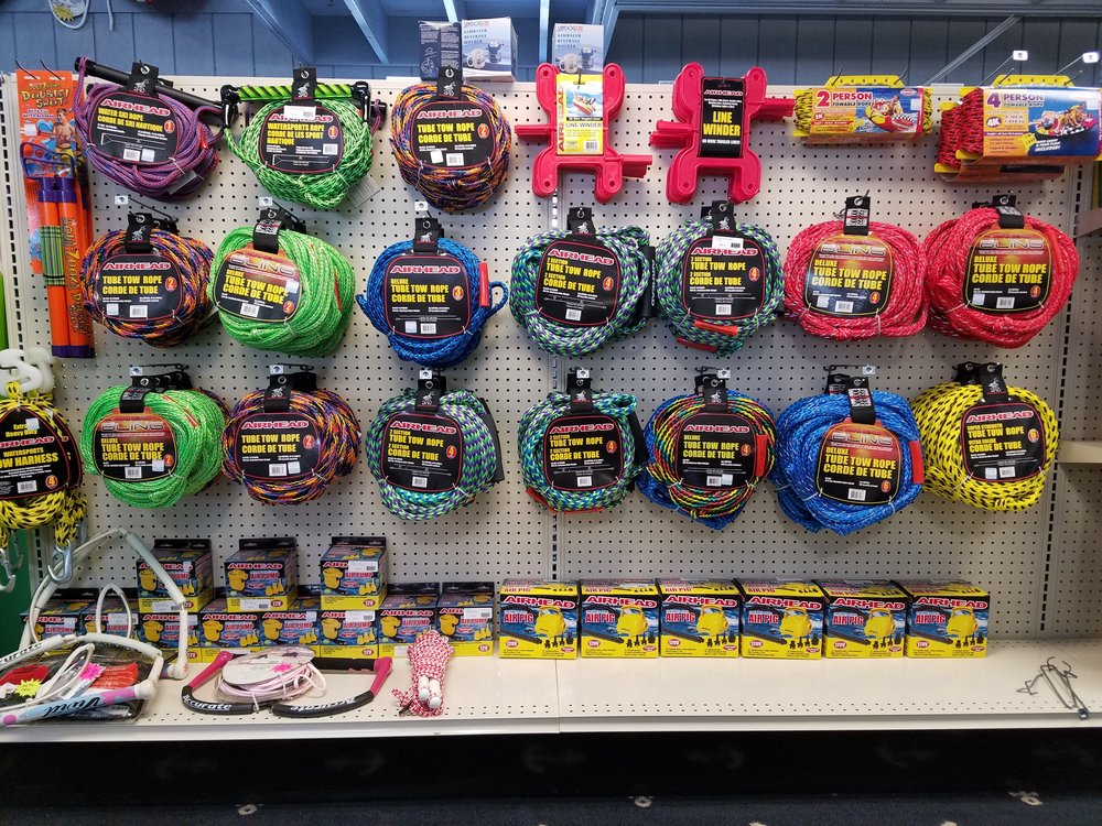 TOWS ROPES, WATER SKI ROPES, AIR PUMPS AND MORE!