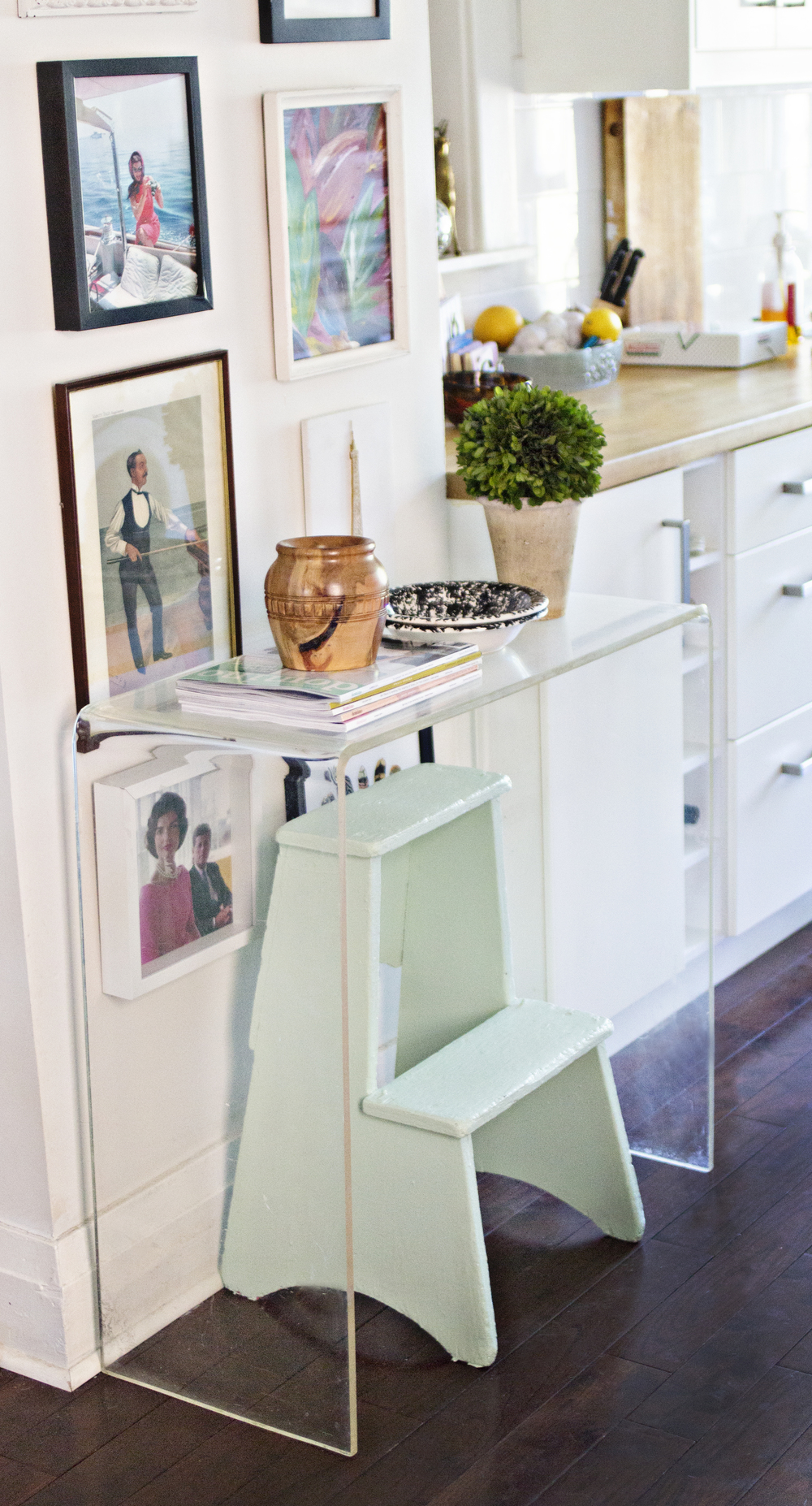 Mint Green and Lucite