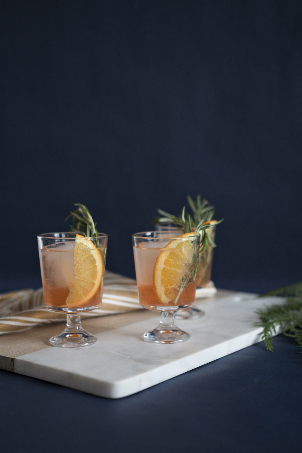 Orange Old Fashion with Rosemary