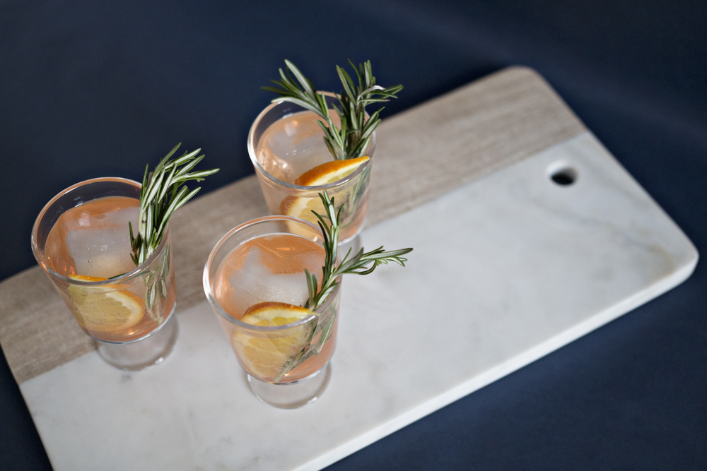 Orange and rosemary old fashioned