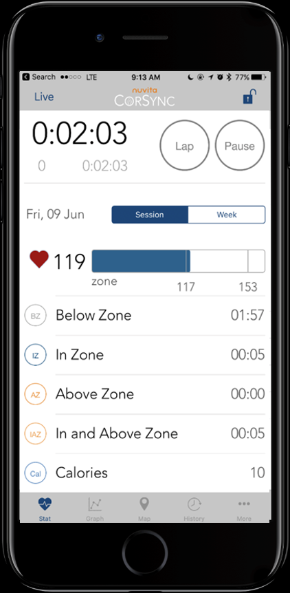 Use heart rate monitoring straight from your phone to track your workouts and help you stay consistent to improve your fitness!