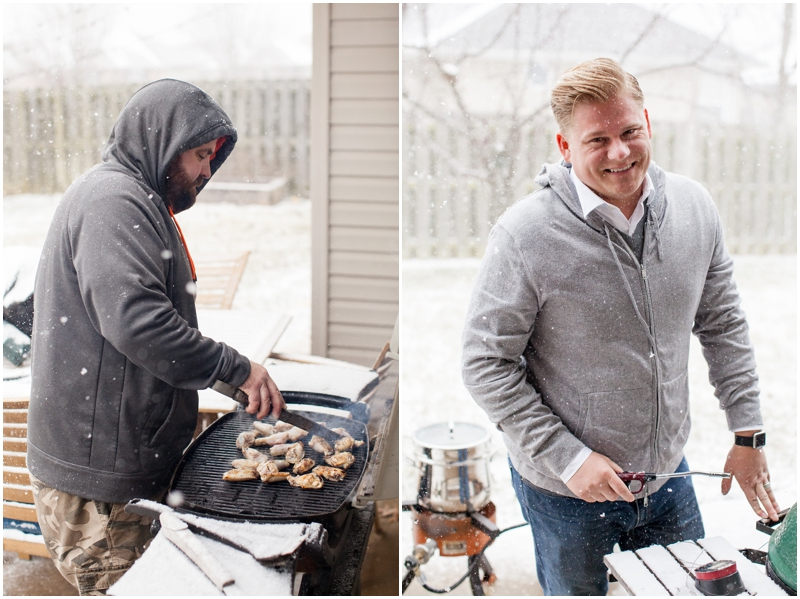The Snow Storm We Had That Afternoon Came Out Of Nowhere. The Guys Loved Grilling In The Snow! Ha