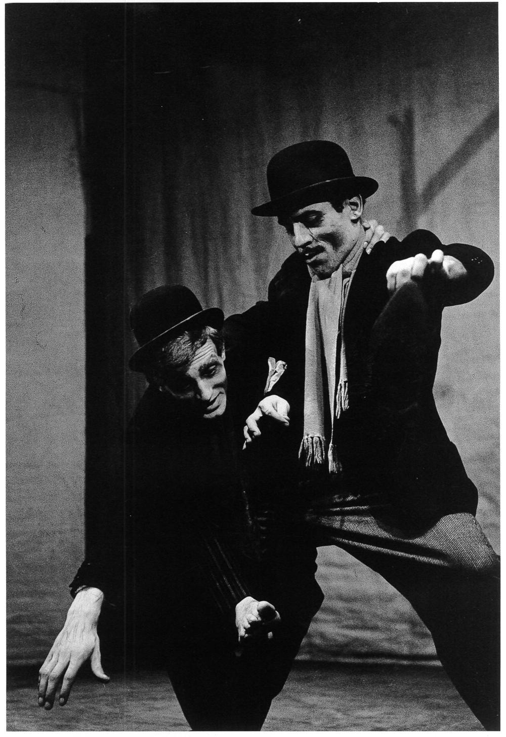 Aspettando Godot , regia di Tullio Pendoli, Teatro San Marco. Milano, 1960.