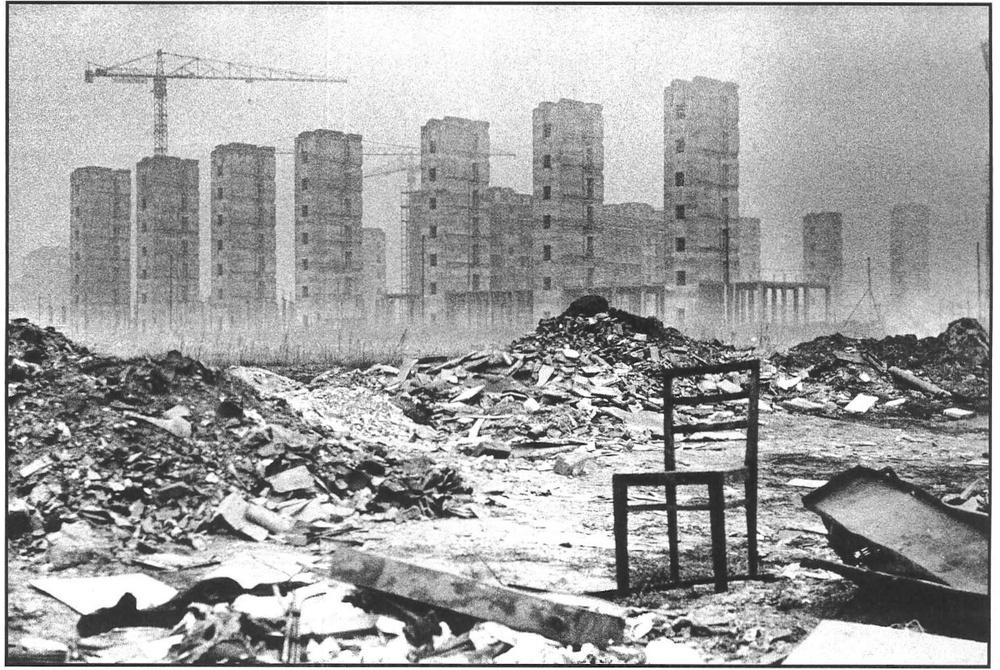 Quartiere sperimentale  La Spezia  in costruzione. Milano, 1964.