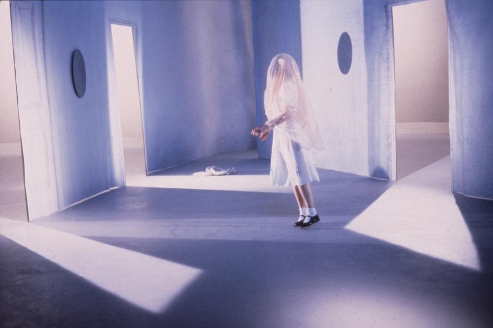 """""""Pupilla"""", spettacolo di Valeria Magli. 1985."""