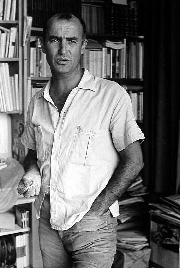 Luigi Nono nella sua casa di Venezia alla Giudecca. 1968.