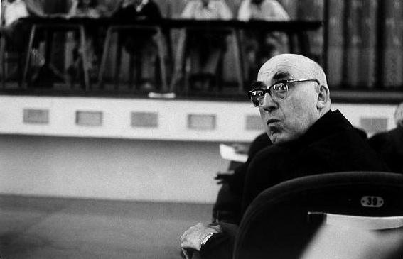 Cesare Zavattini al Festival del Cinema di Venezia del 1968.