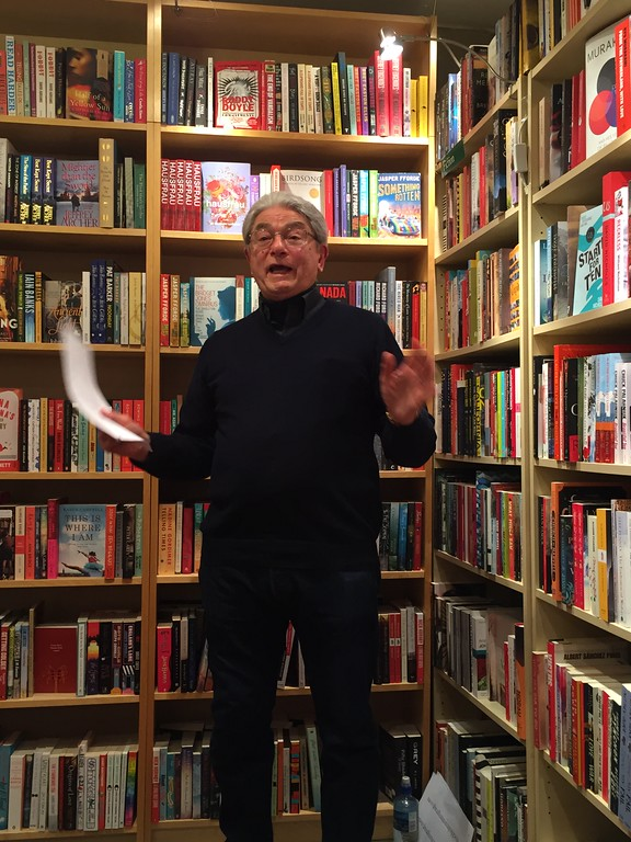 Ron Pavellas reads at the English Bookshop in Stockholm