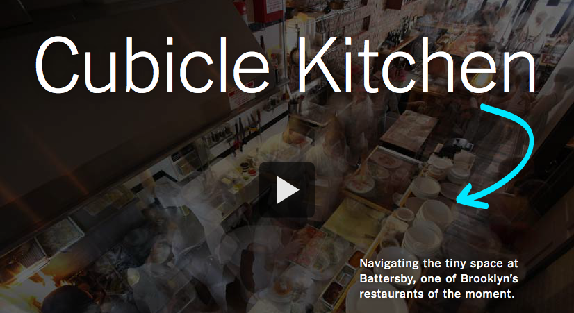 Cubicle Kitchen (September, 2012): On how three chefs navigate a 60-square foot kitchen in Brooklyn