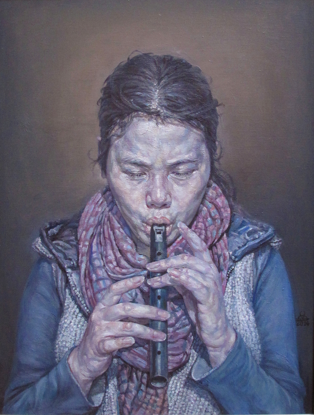 The girl with the flute
