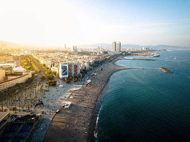 Coast - Barcelona, Spain. #barcelona #dji #mavicpro #skypixel #fromwhereidrone