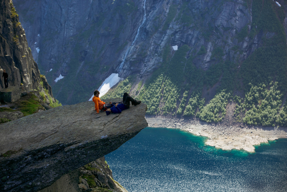 Trolltunga - taking a well deserved break. As beautiful this spot, the journey was even more spectacular