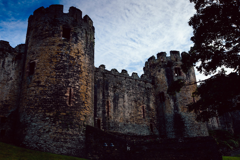 The outer walls of Conwy Castle - an estimated £15,000 was spent building this castle between 1277 and 1307