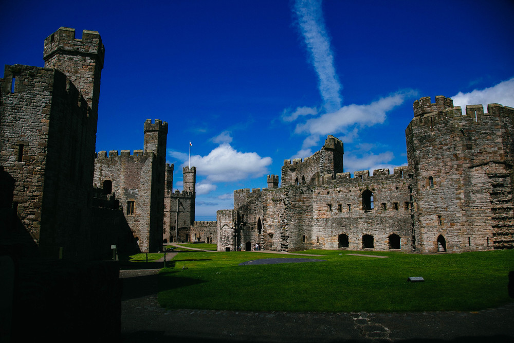 On the grounds ofCaernarfon Castle