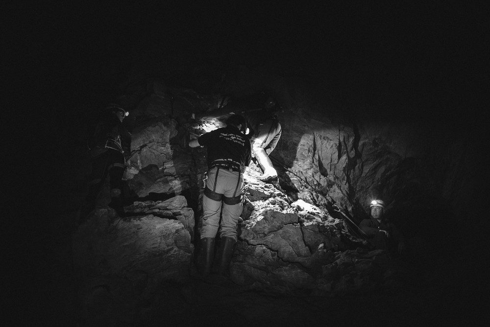 Cave climbing - definitely an interesting experience