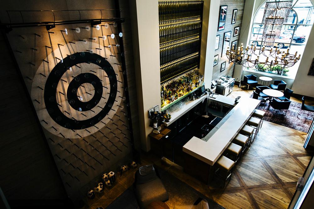 Inside the hip Zetta Hotel